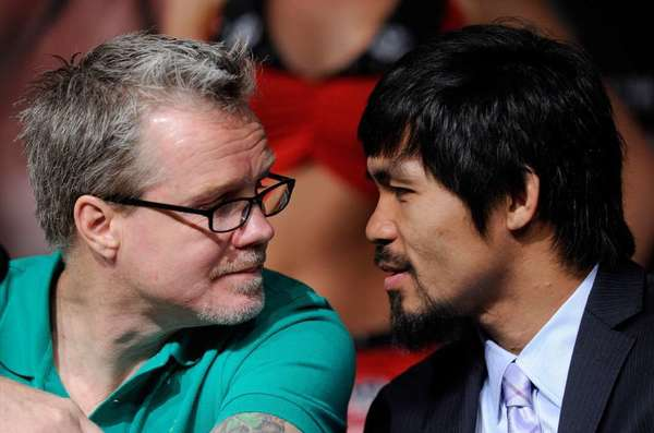 Boxing trainer Freddie Roach and Manny Pacquiao.