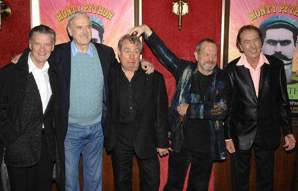 Monty Python members, from left, Michael Palin, John Cleese, Terry Jones, Terry Gilliam and Eric Idle in New York in 2009.