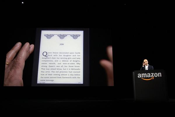Jeff Bezos, CEO and founder of Amazon, at the introduction of the Kindle Paperwhite e-reader in Santa Monica last year.