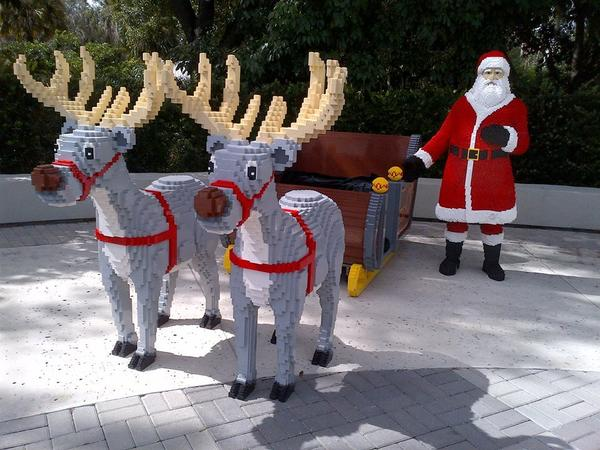 Legoland's Christmas Bricktacular will run every Saturday and Sunday in December and will feature a Lego Santa, Lego Christmas tree that guests can help decorate with Lego ornaments and a scavenger hunt.