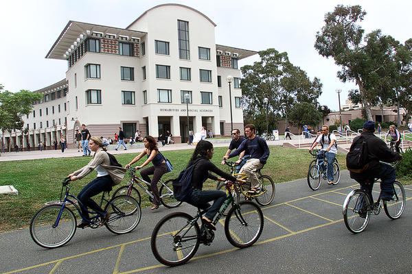 Two UC Santa Barbara students have been diagnosed with meningococcal disease, which causes meningitis. Above, a file photo of the UC Santa Barbara campus.