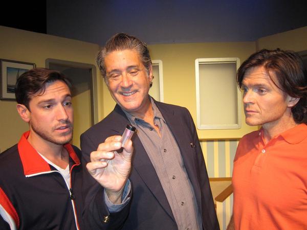 "Michael Marinaccio, left, Kip Gilman and Todd Cattell in ""Aspirin & Elephants."""