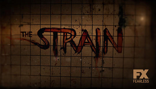 "A logo for ""The Strain."""