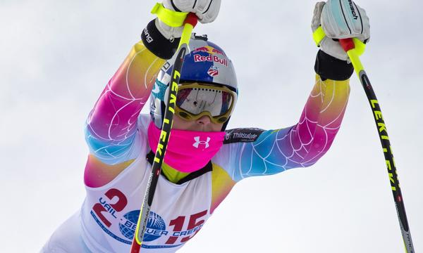 Lindsey Vonn takes part in a training session in Vail, Colo., on Nov. 6. Vonn crashed in a training run Tuesday.