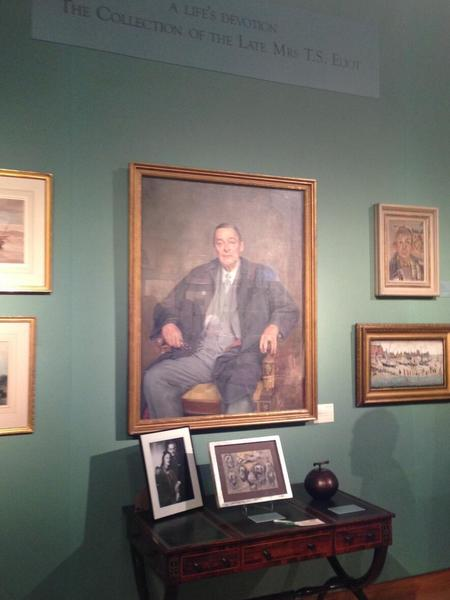 The estate of Valerie Eliot -- including a portrait of her husband, T.S. Eliot -- on view in advance of Christie's auction.