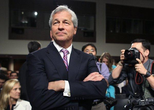 Still riding high: JPMorgan Chairman and CEO Jamie Dimon, unfazed by a $13-billion hit.