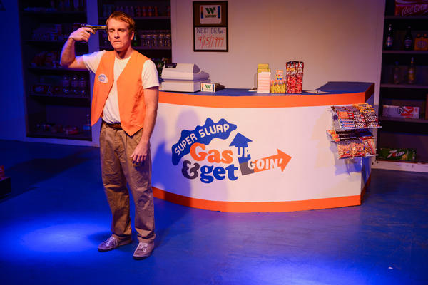 "In ""Live! From the Last Night of My Life,"" a convenience store cashier (Pete Caslavka) considers an exit strategy at the end of his graveyard shift."