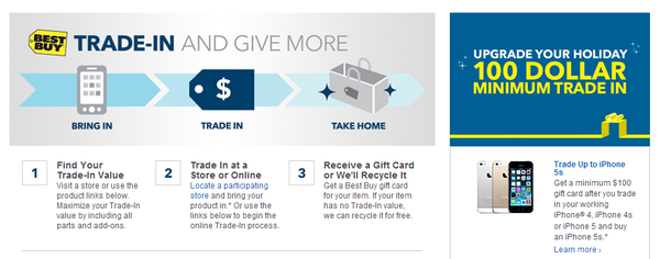 Best Buy is offering a limited-time trade-in program for owners of certain Apple products.