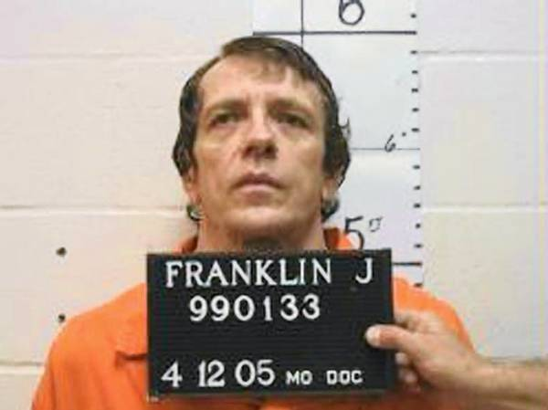 Joseph Paul Franklin is seen in a booking photo provided by the Missouri Department of Corrections.