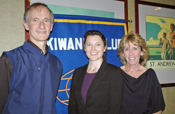 Burbank Sunrise Kiwanis Club President Joe Marando with Louise Skosey, center, development officer with the Providence St. Joseph Foundation, and Donna Anderson, vice president of the Sunrise Kiwanis Club. The club donated $25,000 to the Providence Foundation in honor of the club's 25th anniversary.