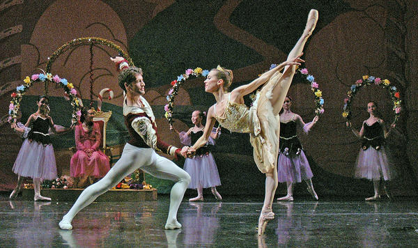 "Arsen Serobian and Carrie Lee Riggins perform in a past production of ""The Nutcracker"" presented by the Pacific Ballet Dance Theatre."