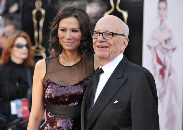 News Corp. Chairman Rupert Murdoch and his third wife, seen arriving together for the Academy Awards in February, are said to be close to finalizing their divorce.