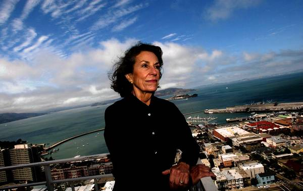 Diane Disney Miller, shown at her San Francisco home in August, will likely be most remembered in the arts world for her role in building the Walt Disney Concert Hall in her native Los Angeles. In September, she chaired a gala commemorating the building's 10th anniversary.