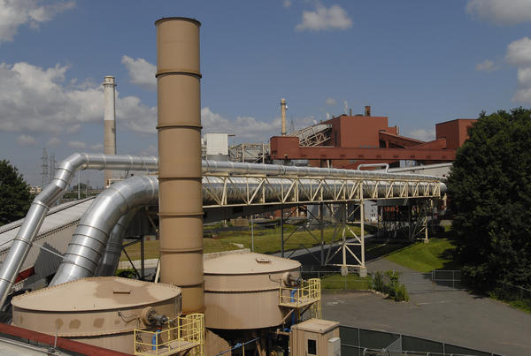 Part of the CRRA's Mid-Connecticut incinerator complex south of Hartford.