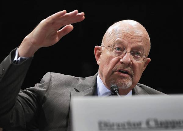 James R. Clapper, director of national intelligence, testifies on Capitol Hill last month.