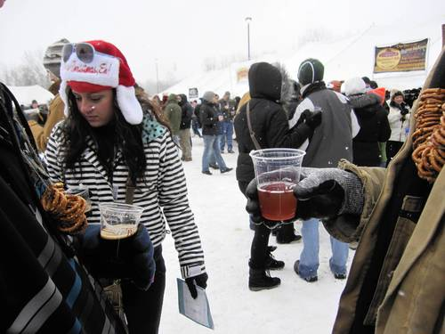 Come warmly dressed and with snacks to Winter Beer Festival in Grand Rapids, Mich.