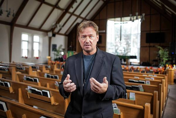 The Rev. Frank Schaefer, pictured October 17, 2013, is a Methodist clergyman in Lebanon, Pennsylvania, who faced a church tribunal for committing a crime, officiating over the gay marriage in 2006 of his son and his son's partner.