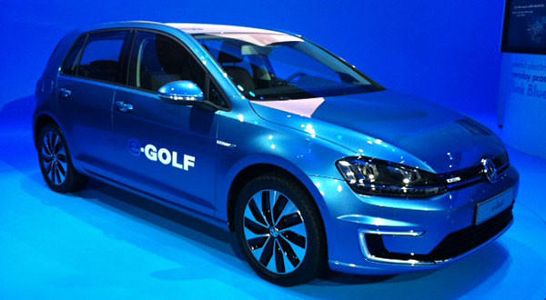 The electric Volkswagen eGolf.