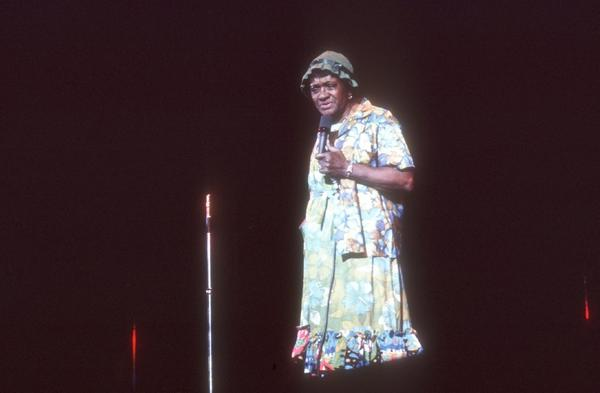 Moms Mabley performing in about 1970.