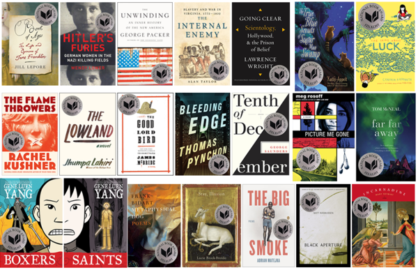 The finalists for the National Book Awards.