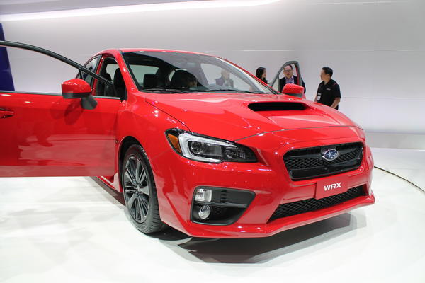 The all-new Subaru WRX on display at the 2013 L.A. Auto Show.