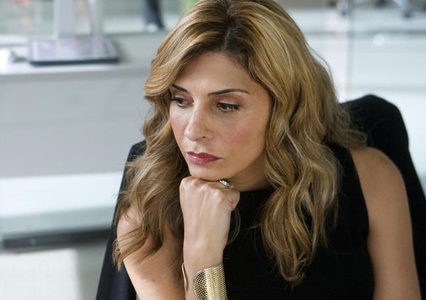 "Callie Thorne as Dr. Dani Santino on the USA original series ""Necessary Roughness."""