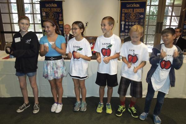 "Six La Cañada Elementary School students were named ""Terrific Kids"" by the Kiwanis Club of La Cañada Flintridge."