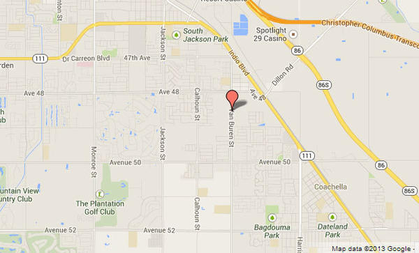 A bicyclist was struck and killed while riding down a street in Coachella Tuesday.