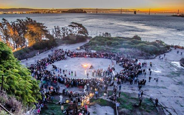 The Indigenous Peoples' Sunrise Thanksgiving Gathering will take place early Thanksgiving morning on Alcatraz Island.