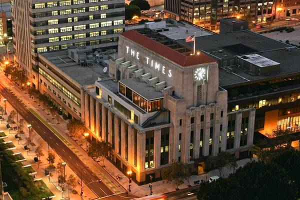 Print ad revenue at the Tribune Co.'s eight daily newspapers, including the Los Angeles Times, fell nearly $200 million in the last two years and an additional $62 million in the first nine months of this year.