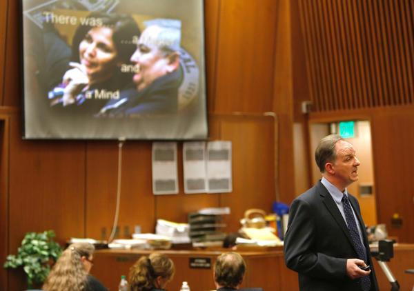 Prosecutor Max Huntsman delivers his closing argument in Angela Spaccia's corruption trial.