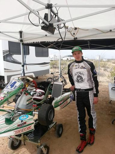 Willy Axton, an eighth-grader from Ensign Intermediate School and a Costa Mesa resident, recently became International Karting Federation Grand National Champion.