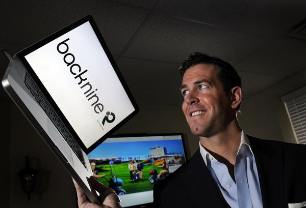 Back9Network's CEO Jamie Bosworth in March 2012.