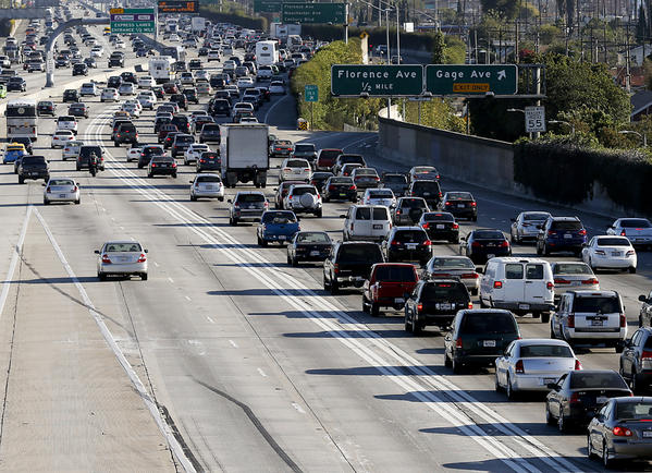 Discussion over creating toll lanes on the 405 Freeway in Orange County is heating up. Above, L.A.'s first foray into toll lanes shows that those willing to pay are getting a slightly faster commute, but everyone else is seeing more traffic.