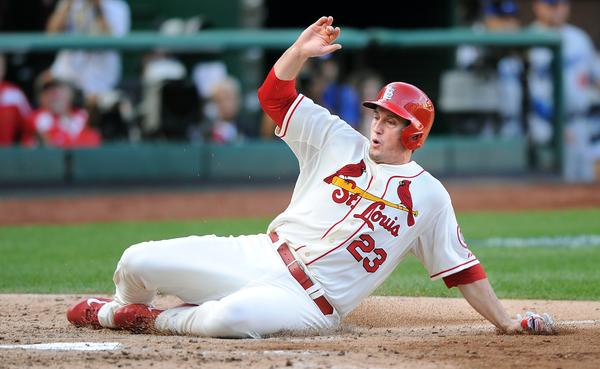 St. Louis third baseman David Freese could be one of several Cardinals the Angels are interested in.