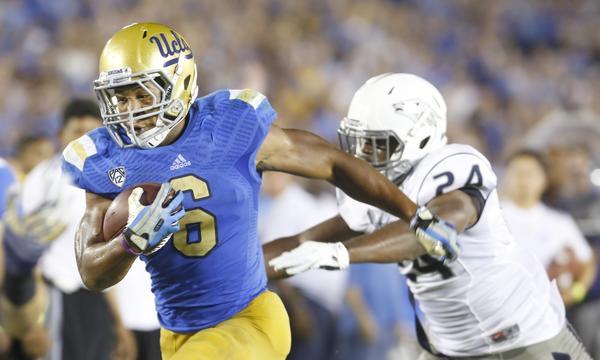 UCLA running back Jordon James suffered an ankle injury against Utah on Oct. 3.