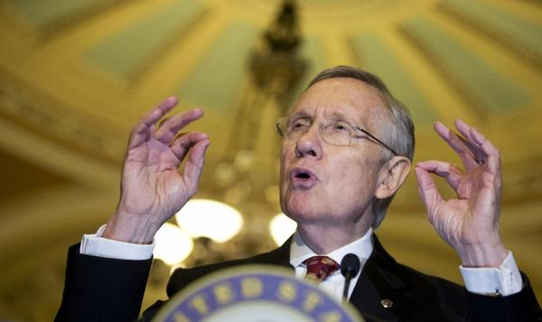"Senate Majority Leader Sen. Harry Reid triggered the ""nuclear option."" Above, the Nevada Democrat speaking to the media Tuesday on Capitol Hill."