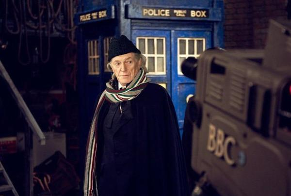 David Bradley as William Hartnell, the very first Doctor.