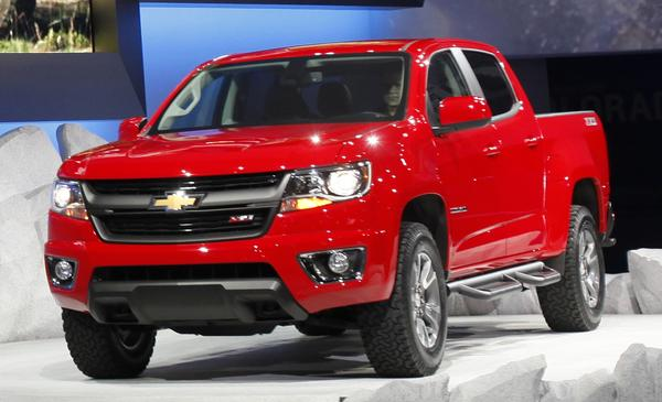 Chevrolet unveils the new Colorado, a mid-size pickup truck.