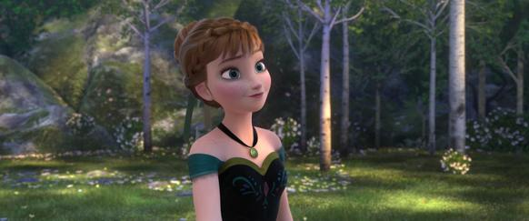 "Anna in the film ""Frozen."""