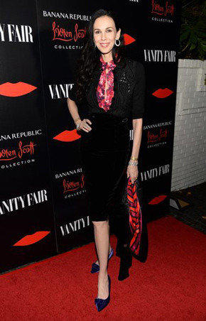 Fashion designer L'Wren Scott attends the launch celebration for the Banana Republic L'Wren Scott Collection.