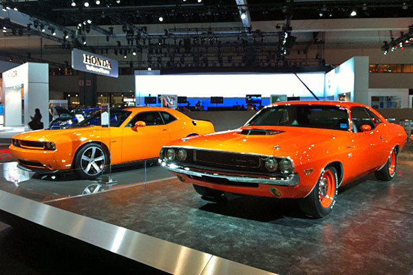 The Dodge exhibit and two anniversary-edition cars at the L.A. Auto Show trace the brand's history over its first 100 years.