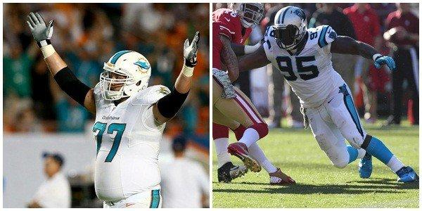 Johnson (8.5 sacks) is a beast, one of the best in the NFL. But he got leg whipped last week against New England and has a knee injury. He might not play. If he does, the key for Clabo is avoiding the fourth-quarter sack in a close game. The Dolphins have been done-in in those situations against Baltimore, Buffalo and Tampa Bay. Edge: Panthers