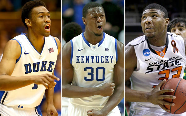 If the Lakers fail to make the playoffs, then Duke's Jabari Parker, Kentucky's Julius Randle or Oklahoma State's Marcus Smart could be a draft pick away.