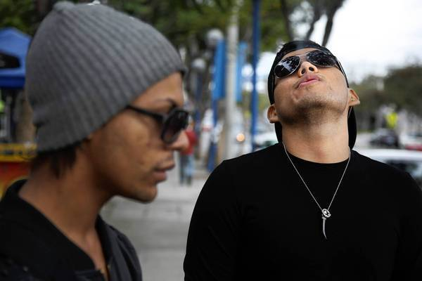 "Benjamin Berglund, left, and Joseph Rodriguez said that although the campaign might ""make people think,"" it wouldn't inspire either of them to quit smoking."