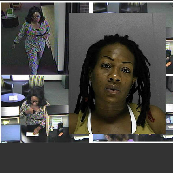 A wig-wearing bank robber with a gun tucked in her bra held up the TD Bank at 1590 S. Nova Road in Daytona Beach at 2:40 p.m. Monday.