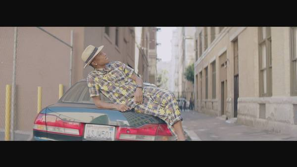 "Pharrell has released a 24-hour music video for his song ""Happy."""