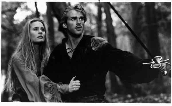 "Robin Wright and Cary Elwes in ""The Pricess Bride."""
