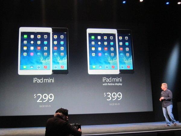 A presentation for the iPad Mini and the iPad Mini with Retina display.