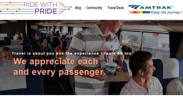 Amtrak has launched new resource websites for LGBT, black and Hispanic travelers.